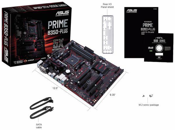 Mainboard ASUS Prime B350-Plus, AM4 - Produktbild 4