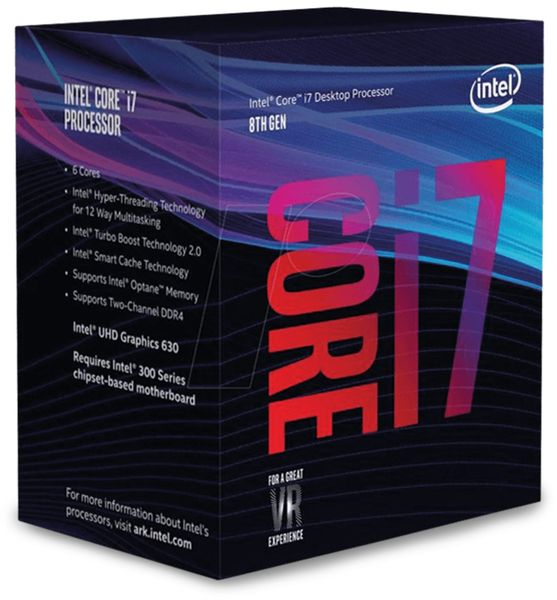 CPU INTEL Core i7-8700, 6x 3,2 GHz, LGA1151