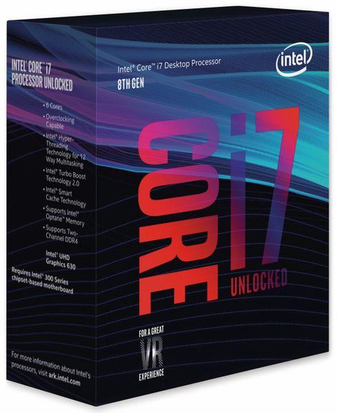 CPU INTEL Core i7-8700K, 6x 3,7 GHz, LGA1151, Übertaktungsgeeignet