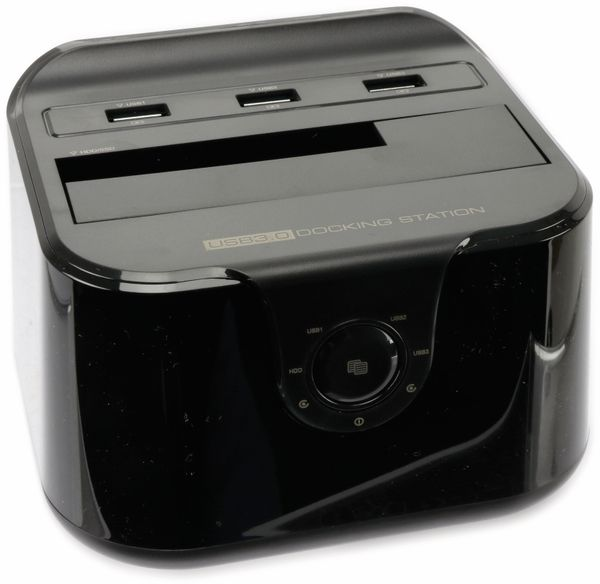 "Festplatten-Dockingstation DSS-03B, 2,5/3,5"", 3x USB 3.0, schwarz - Produktbild 1"