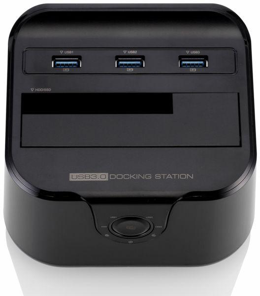 "Festplatten-Dockingstation DSS-03B, 2,5/3,5"", 3x USB 3.0, schwarz - Produktbild 2"