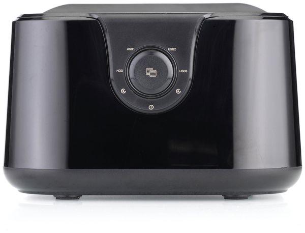 "Festplatten-Dockingstation DSS-03B, 2,5/3,5"", 3x USB 3.0, schwarz - Produktbild 3"