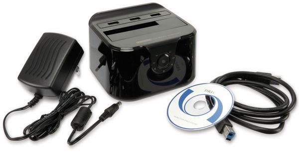 "Festplatten-Dockingstation DSS-03B, 2,5/3,5"", 3x USB 3.0, schwarz - Produktbild 6"