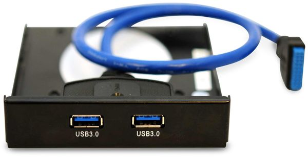 USB 3.0 Frontpanel PA-3,5L, 2x USB 3.0, mit SSD Halterung - Produktbild 2