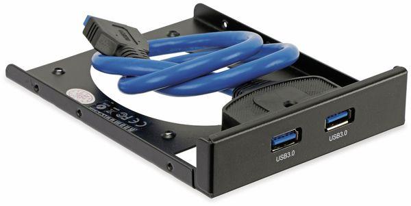USB 3.0 Frontpanel PA-3,5L, 2x USB 3.0, mit SSD Halterung - Produktbild 5