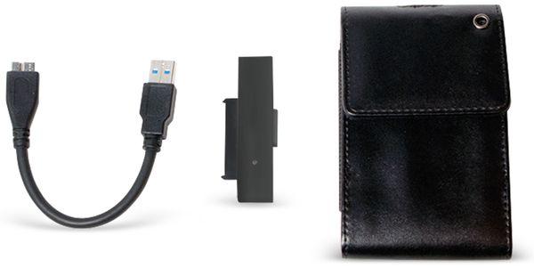 """Festplattengehäuse LOGILINK UA0235, 2,5"""", USB 3.0, Lederdesign"""