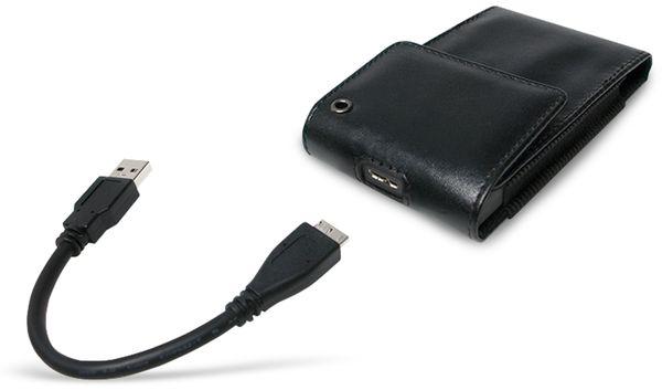 "Festplattengehäuse LOGILINK UA0235, 2,5"", USB 3.0, Lederdesign - Produktbild 2"