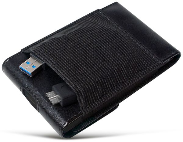 "Festplattengehäuse LOGILINK UA0235, 2,5"", USB 3.0, Lederdesign - Produktbild 3"