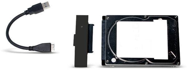"Festplattengehäuse LOGILINK UA0235, 2,5"", USB 3.0, Lederdesign - Produktbild 4"