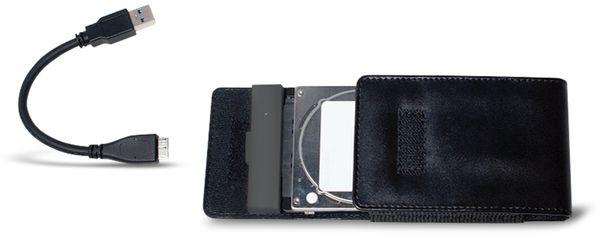 "Festplattengehäuse LOGILINK UA0235, 2,5"", USB 3.0, Lederdesign - Produktbild 5"