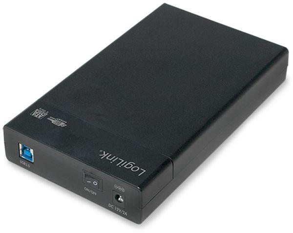 "Festplattengehäuse LOGILINK UA0276, 3,5"", USB 3.0, Schraubenloses Design - Produktbild 1"