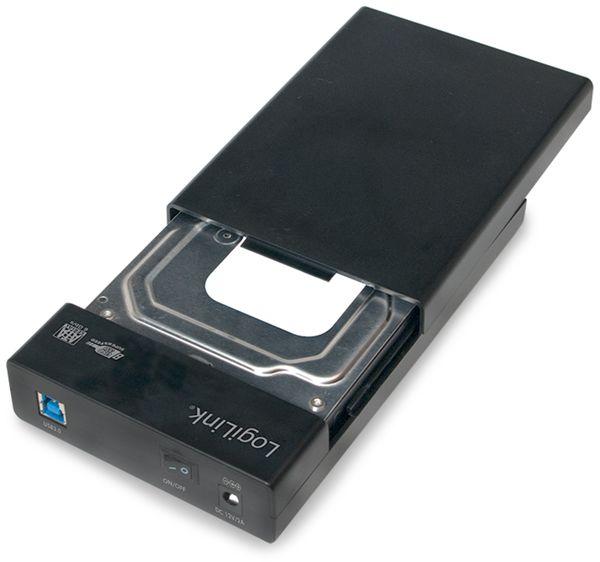 "Festplattengehäuse LOGILINK UA0276, 3,5"", USB 3.0, Schraubenloses Design - Produktbild 3"