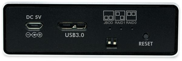"""USB3.0 Raid-Gehäuse LOGILINK UA0291, 2x 2,5"""", Aluminium - Produktbild 6"""