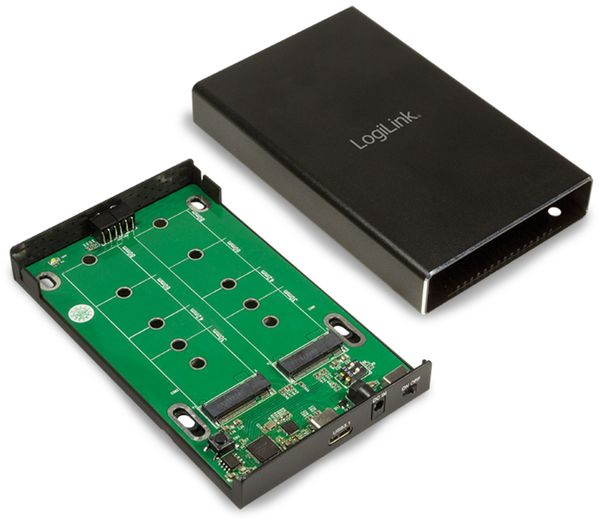 USB3.1 Gen2 Raid-Gehäuse Logilink UA0297, 2x M.2 - Produktbild 4