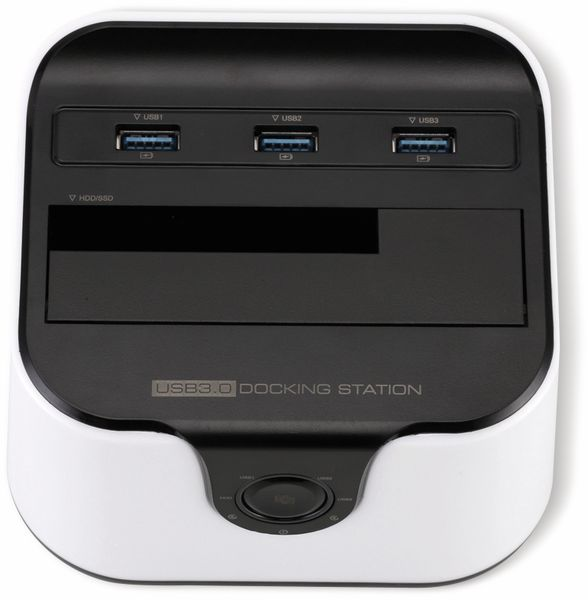 "Festplatten-Dockingstation DSS-03W, 2,5/3,5"", 3x USB 3.0, weiß - Produktbild 3"