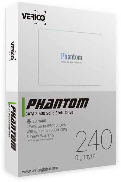 SATA-SSD VERICO Phantom, 240 GB, SATA III - Produktbild 2