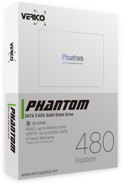 SATA-SSD VERICO Phantom, 480 GB, SATA III - Produktbild 2