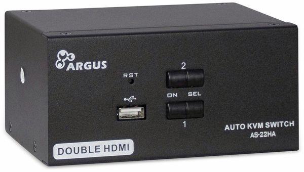 KVM-Switch INTER-TECH AS-22HA, HDMI, Metall, 2x2 Ports