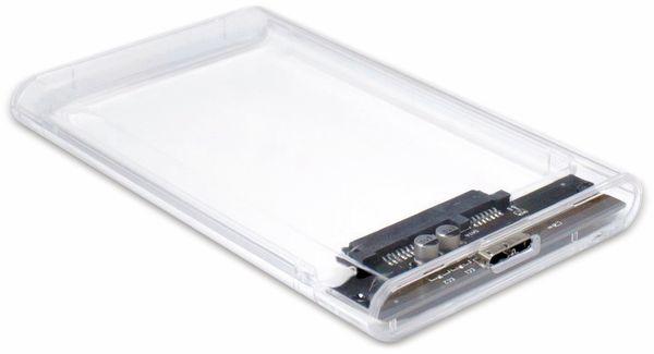 """HDD-Case INTER-TECH Argus GD-25000, USB 3.0, 2,5"""", transparent - Produktbild 2"""
