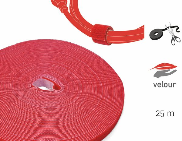 Klett-Rolle LABEL THE CABLE Roll Strap, 25 m, 16 mm, rot - Produktbild 2