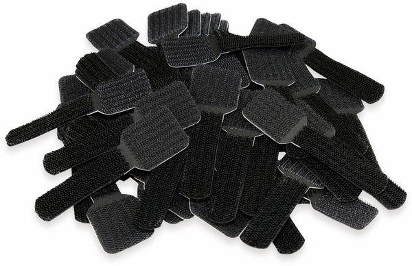 Klett-Kabelbinder LTC WALL STRAPS, schwarz, 50 Stück
