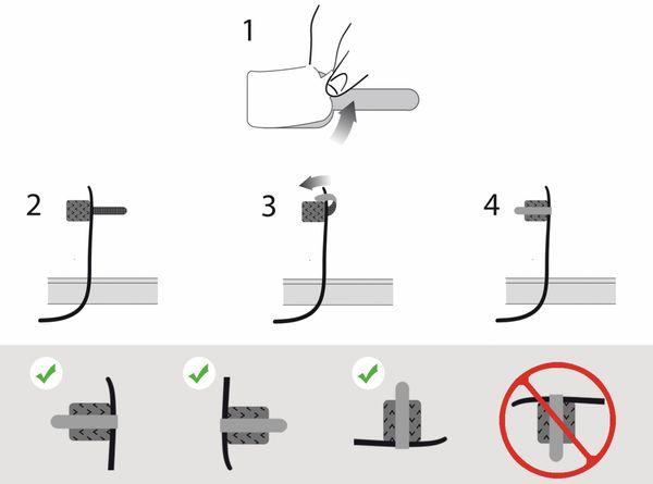Klett-Kabelbinder LTC WALL STRAPS, schwarz, 50 Stück - Produktbild 3