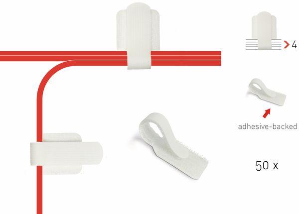 Klett-Kabelbinder LTC WALL STRAPS, weiß, 50 Stück - Produktbild 2