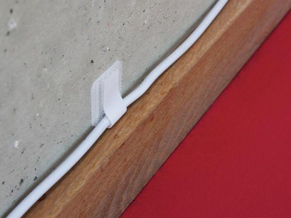 Klett-Kabelbinder LTC WALL STRAPS, weiß, 50 Stück - Produktbild 4