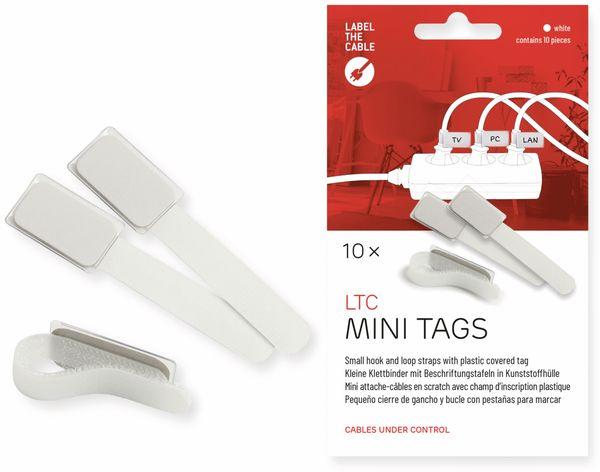 Klett-Kabelbinder LTC MINI TAGS, 10 Stück, weiß