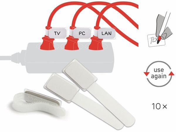 Klett-Kabelbinder LTC MINI TAGS, 10 Stück, weiß - Produktbild 2