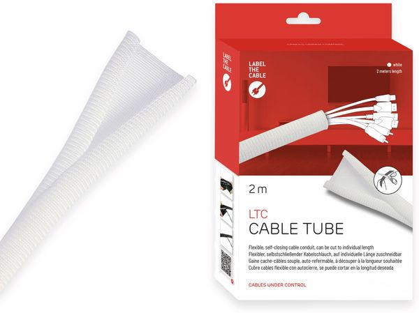 Kabel-Schlauch LTC CABLE TUBE, 2m, weiß