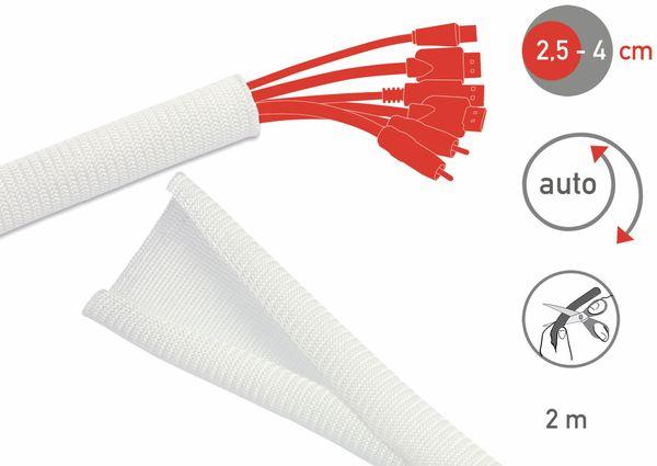 Kabel-Schlauch LTC CABLE TUBE, 2m, weiß - Produktbild 2