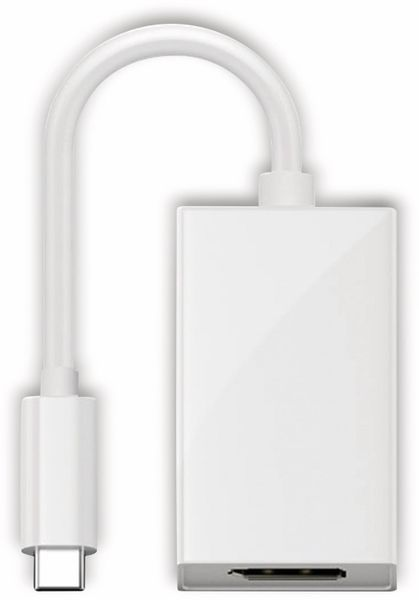DisplayPort Adapter GOOBAY 66257, USB-C, 0,2 m, weiß