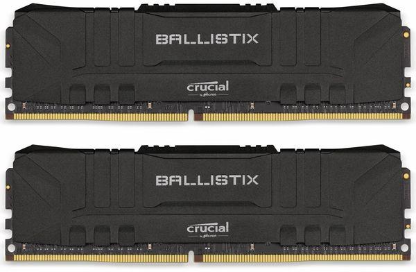 DDR4 Arbeitsspeicher CRUCIAL Ballistrix Black, 16 GB (2x 8 GB), 2666 MHz, CL16