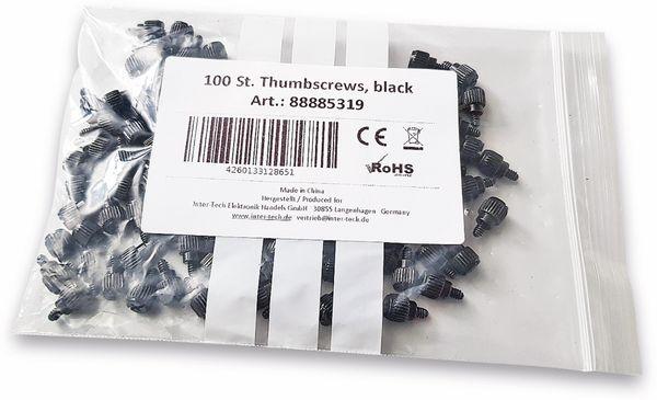 Gehäuseschrauben INTER-TECH, Stahl, 100 Stück