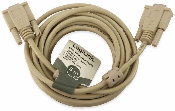 VGA-Kabel, LogiLink, Stecker-Kupplung, 5m - Produktbild 2