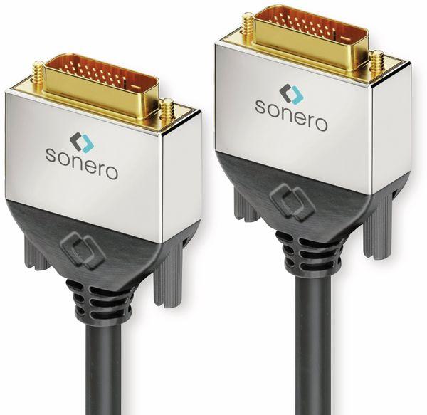 DVI-Kabel SONERO Premium, 2 m, Dual Link, Stecker/Stecker (24+1)