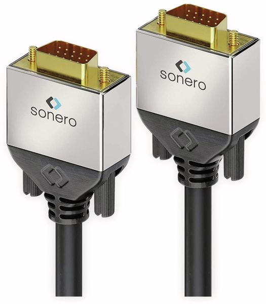 VGA-Anschlusskabel SONERO Premium, 1 m, Stecker/Stecker, Full-HD