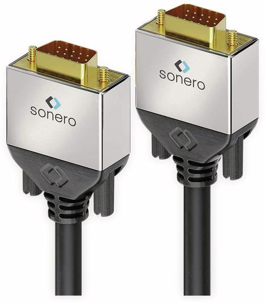 VGA-Anschlusskabel SONERO Premium, 3 m, Stecker/Stecker, Full-HD