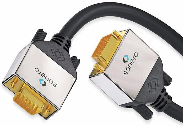 VGA-Anschlusskabel SONERO Premium, 3 m, Stecker/Stecker, Full-HD - Produktbild 2