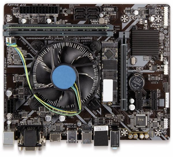 Mainboard-Bundle, Intel i3-9100F, Gigabyte H310M S2H, 8GB DDR4, 240 GBSSD