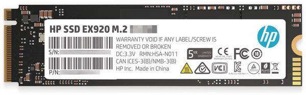 M.2 SSD HP EX920, 256 GB, NVMe