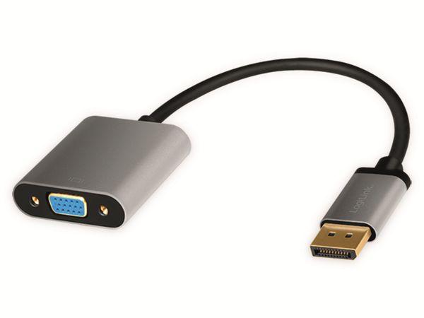 DisplayPort-Adapter LOGILINK CDA0109, DisplayPort/VGA, Alu, 1080p, 0,15m