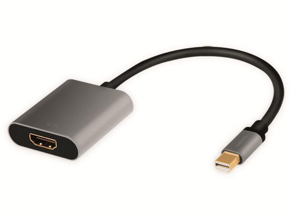 DisplayPort-Adapter LOGILINK CDA0110, Mini-DP/HDMI, Alu, 4k, 0,15m