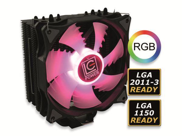 CPU-Kühler LC-POWER LC-CC-120-RGB, 120 mm, 180 W TDP, RGB