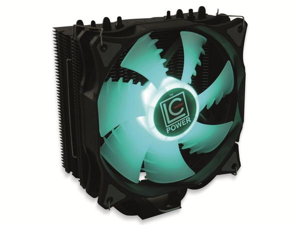 CPU-Kühler LC-POWER LC-CC-120-RGB, 120 mm, 180 W TDP, RGB - Produktbild 3