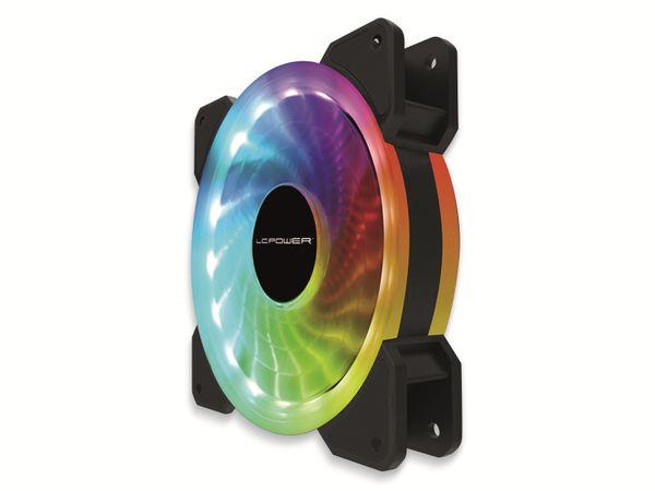 RGB-Gehäuselüfter LC-POWER LC-CF-120-PRO-RGB, 120 mm, 3 pin, RGB