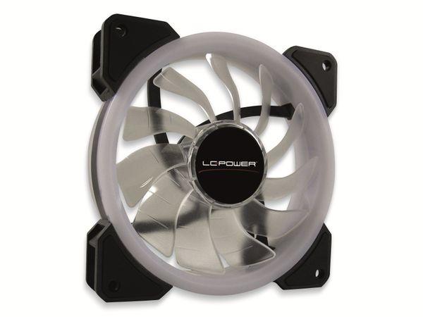 RGB-Gehäuselüfter LC-POWER LC-CF-120-PRO-RGB, 120 mm, 3 pin, RGB - Produktbild 2
