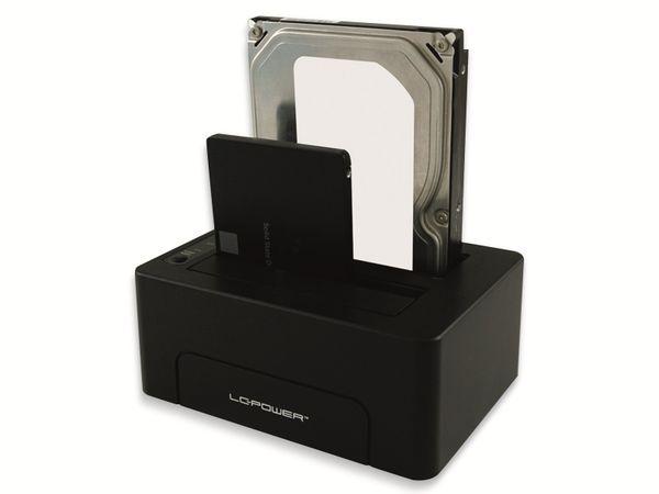 Festplatten-Dockingstation LC-POWER, LC-DOCK-C, USB 3.1 Typ-C, Dual-Bay - Produktbild 4