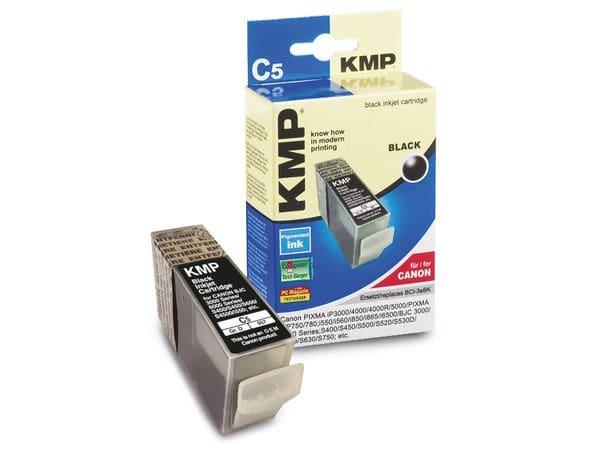 Tintenpatrone KMP, kompatibel für Canon BCI-3eBK, schwarz